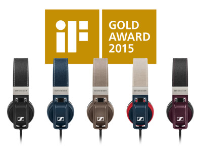 Sennheiser Receives Three iF Design Awards 2015, including Gold Award for Urbanite Headphones