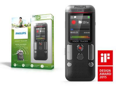 Philips Voice Tracer 2500 Dictation Recorder Wins Prestigious iF Design Award