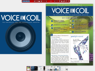 Voice Coil April 2015 Available Online and Print