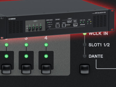 Yamaha RSio64-D Brings Mini-YGDAI Flexibility To Dante Networks