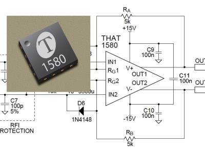 THAT Corporation Introduces Low-Noise Differential Audio Preamplifier IC