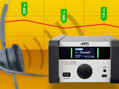 Octave and one-third octave band measurements with NTi's FX100
