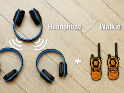World's First Wireless Music Sharing Fitness Headphone with Walkie-Talkie Mode
