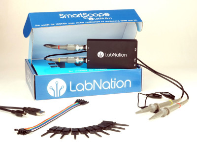 LabNation Compact Open Source USB Oscilloscope Supports Apple iPad, Android, Microsoft Windows and Linux