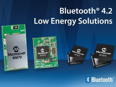Microchip Releases Next-Generation Bluetooth LE 4.2 Compliant Solutions