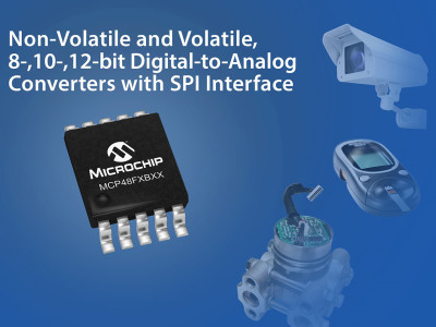 Microchip's New Digital-to-Analog Converters Retain Settings Without Power Via Integrated EEPROM