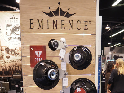 Eminence Celebrates 50 Years and Introduces New Products at NAMM 2016