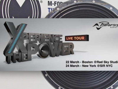 Powersoft to Demonstrate its M-Force System Low Frequency Solution at Exclusive Listening Sessions in Boston and NYC