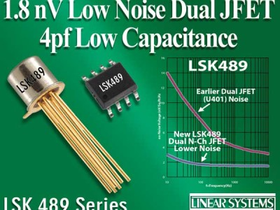 Linear Systems Offers New Dual JFETs