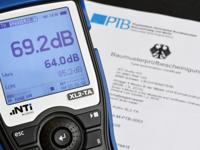 NTi Audio Announces New PTB Certificate for XL2-TA Sound Level Meter