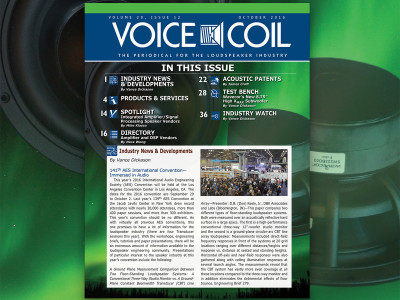 Voice Coil October 2016 Now Available in Print and Online