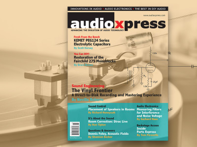 Access Great Articles and Projects Available in audioXpress November 2016