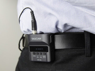 New Tascam DR-10L Ultra-Compact Recorder with Lavalier Microphone