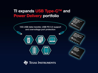 Texas Instruments Introduces Improved USB Type-C and Power Delivery 3.0 Devices