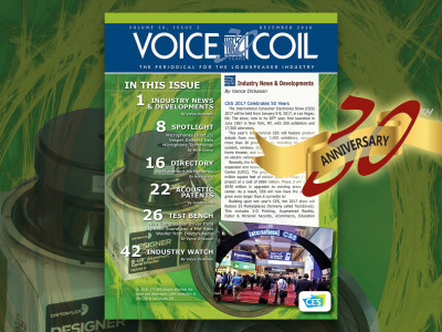 The Latest Technology for the Loudspeaker Industry in Voice Coil December 2016