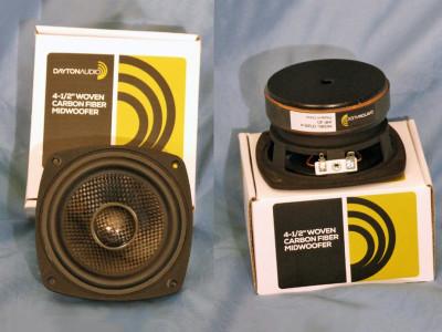 "Test Bench: Dayton Audio CF120-4 4-1/2"" Woven Carbon Fiber Midwoofer"