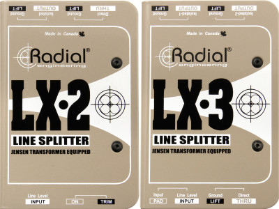 Radial's LX-3 and LX-2 Passive Line Splitters Now Shipping