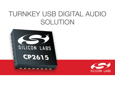 New CP2615 USB-to-I2S Bridge Chip from Silicon Labs for Simple Digital Audio Designs