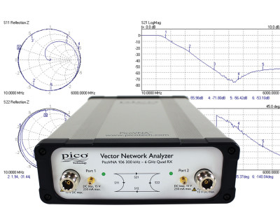 Pico Technology Introduces PicoVNA 106 Low-Cost Vector Network Analyzer