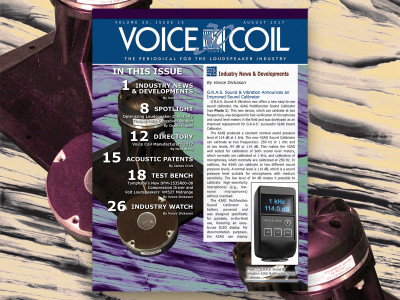 Key Industry Knowledge for Loudspeaker Professionals in Voice Coil August 2017