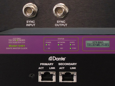 Studio Technologies Releases Model 5401 Dante Master Clock