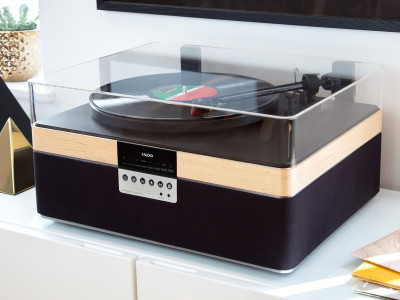 The+Record Player All-In-One Turntable Entertainment System Reimagined for Today's Vinyl Enthusiast