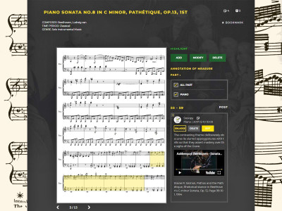 Musicanote Launches Online Music Score Annotation Service