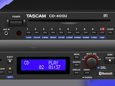 Tascam CD-400U Media Player is a Complete Audio Source