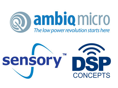 Ambiq Micro, DSP Concepts and Sensory Join Forces to Bring Always-On Voice Control to Portable, Battery-Operated Devices