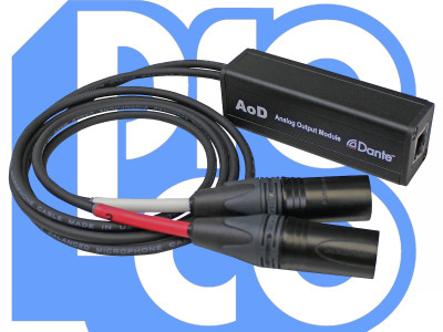 ProCo Sound Now Shipping AoD Output Module for Audio Transport Over Dante Networks