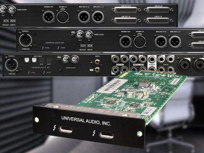 Universal Audio Ships Thunderbolt 3 Option Card for Apollo Audio Interfaces
