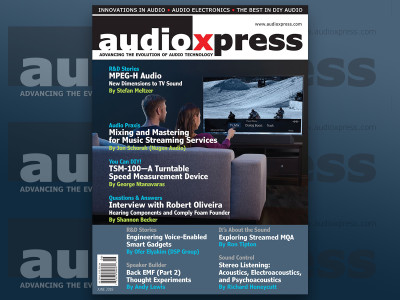 New Exciting Dimensions in Audio Brought to You in audioXpress June 2018