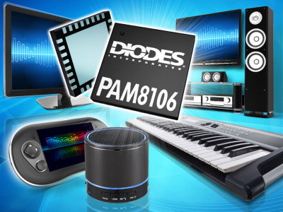 Diodes Targets Wireless Media Speakers with New 10W Stereo Class-D Audio Power Amplifier