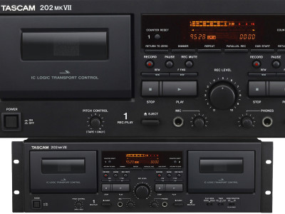 Tascam Unveils 202mkVII Dual Cassette Deck with USB Output