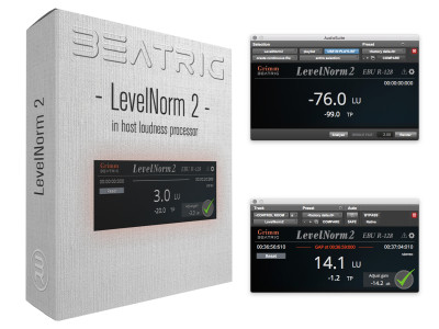 BeatRig Grimm Audio LevelNorm 2 Audio Normalization Available in Any Host Plug-in Format