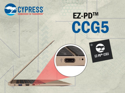 Cypress USB-C Power Delivery Controller Now Available for Use in Thunderbolt 3 Designs