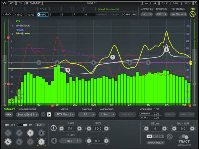 Waves Audio Is Now Shipping the TRACT System Calibration Plugin and TRACT System Calibration + Smaart Di v2 Bundle