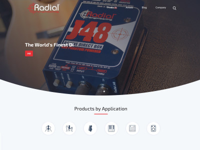 Radial Engineering Launches New Website with Improved Experiences