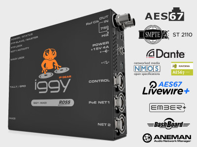 Ross Introduces IGGY AoIP AES67 to MADI Converter at IBC 2018