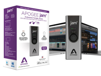 Apogee Launches Jam+ Third Generation Instrument Input Interface for iOS, Mac and PC