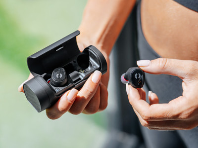 Phiaton BOLT BT 700 True Wireless Earbuds Feature Charging Speaker Case