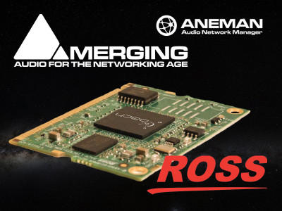 Ross Video and Merging Technologies Partner to Foster AES67 and ST 2110 Audio Networking Implementation