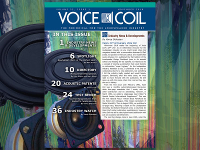 Feel the Pulse Of the Loudspeaker Industry with Voice Coil November 2018