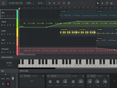 Amped Studio 2.0 Online Music Production DAW Adds Pitch- and Beat-to-MIDI Technology