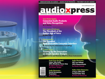 audioXpress December 2018 Addresses Connected Audio Products and Voice Recognition