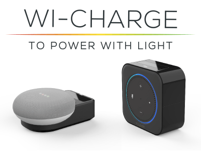 Wi-Charge Unveils Wireless Infrared Light Power Solution for Amazon Echo Dot and Google Home Mini Smart Speakers