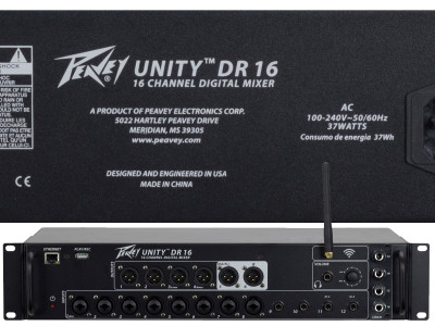 Peavey UNITY DR16 Digital Mixer with Ethernet and Wi-Fi Now Shipping Worldwide