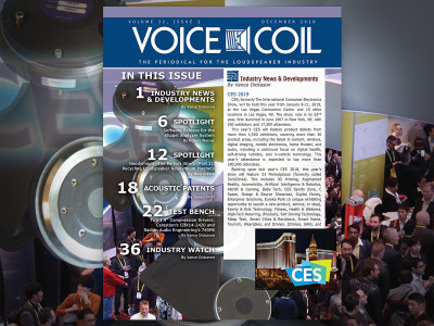 One More Time for 2018! Your Voice Coil December Edition Now Available!