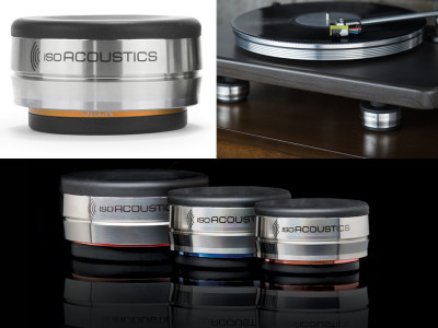 New IsoAcoustics OREA Bronze Isolators for Lighter Audio Components and Turntables