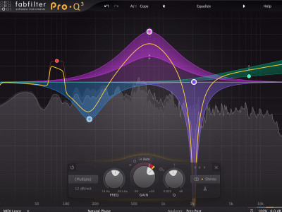 FabFilter New Pro-Q 3 Equalizer Plug-in with Dynamic EQ